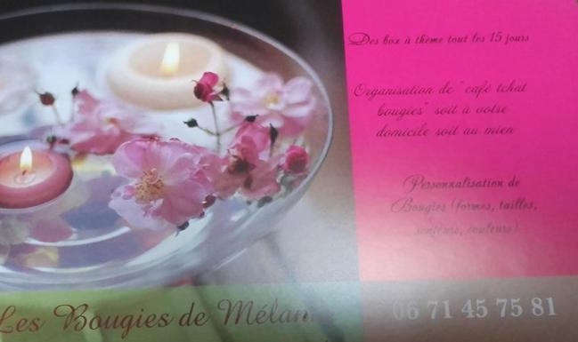 Les bougies de Mélanie