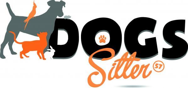 Logo dog sitter fond blanc